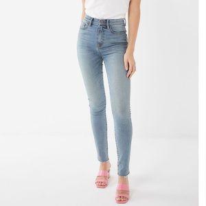 BDG twig light wash high waisted skinny jeans